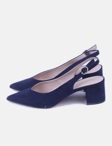 a7e18621f04 Stiletto antelina azul marino Parfois