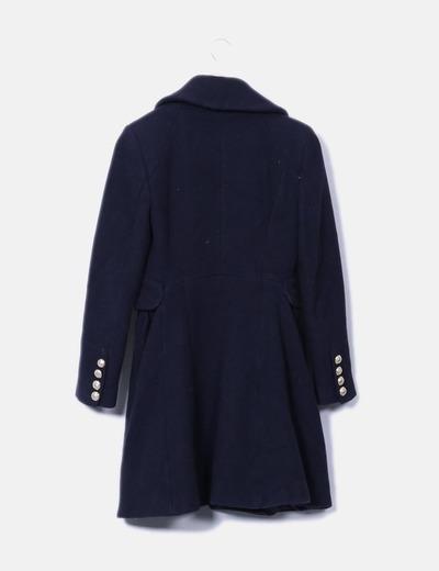 Abrigo largo botones