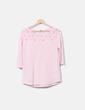 Camiseta rosa con encaje Pimkie