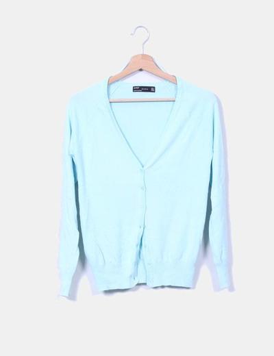 Cárdigan azul Zara