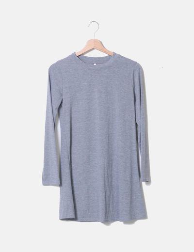 Kleid mit grauer langer Ärmel NoName