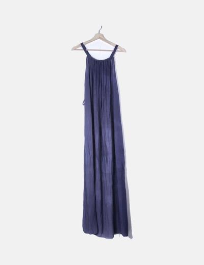 Vestido fluido azul marino