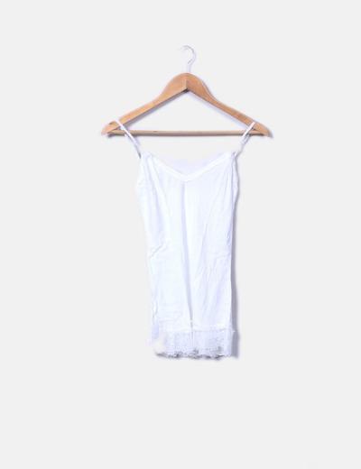 f7b1f9d46546 Camiseta lencera blanca