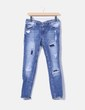 Jeans denim pitillo ripped Pull&Bear