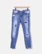 Jeans denim pitillo ripped Pull&Bear