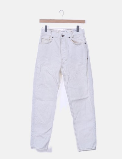 Jeans crudo mom fit