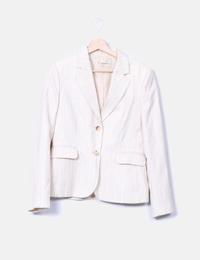 Blazer beige rayé Easy Wear