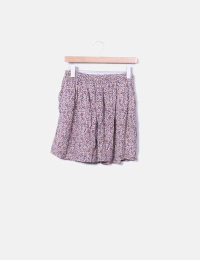 Minifalda fluida floral NoName
