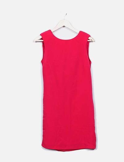 Vestido rosa escote espalda Zara
