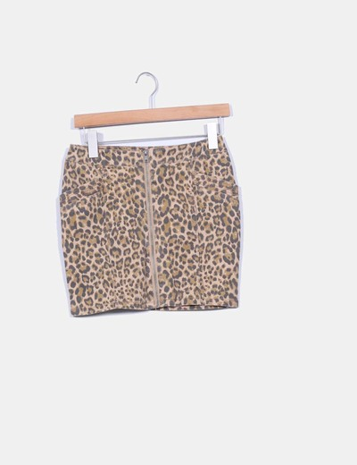 Falda tubo animal print H&M