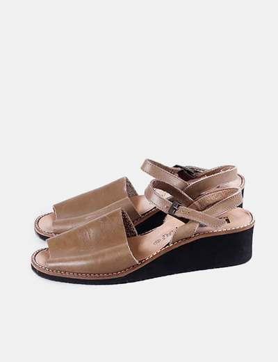 Sandalia verde kaki