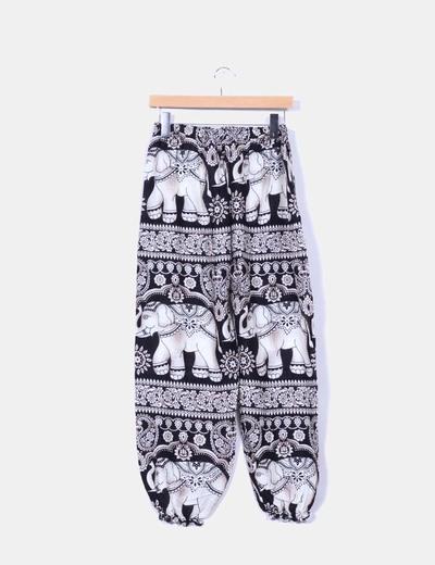 Pantalon gabby fluido print animales