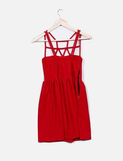 Vestido rojo bandage