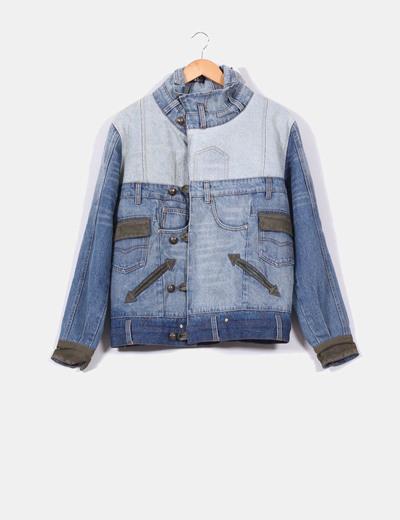 Veste en jeans oversize avec motif en en daim Desigual