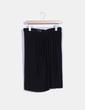 Falda negra cruzada detalle pinzas delanteras Mango