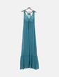 Vestido azul moteado Glüen