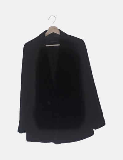 Blazer negra velvet
