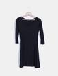 Vestido negro de manga francesa Atmosphere