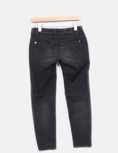 Jeans skinny low rise negro