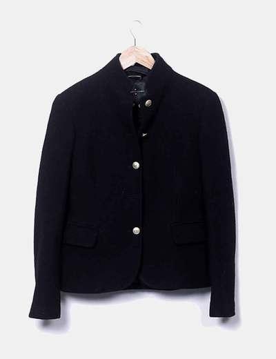Veste noire en tweed Roberto Verino