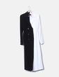 Manteau blanc et noir long SELMACILEK