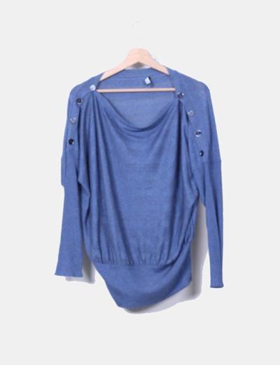 Jersey oversize fluido azul Lancott