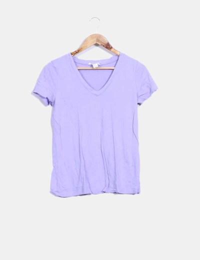 Camiseta manga corta lila Forever 21