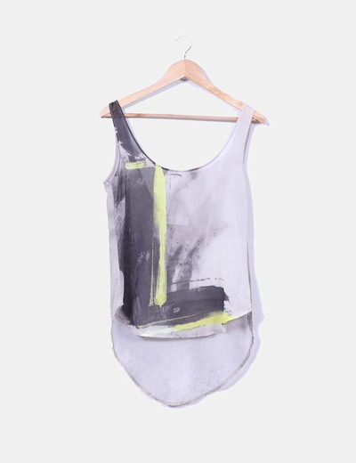 Blusa estampada semitrasnparente Zara