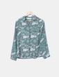 Camisa fluida verde estampada Nice Things