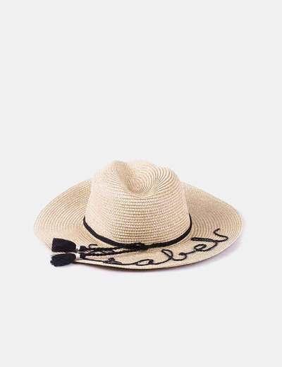 Chapéu de ráfia de aba larga isabel C&A