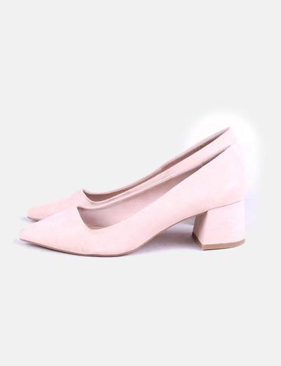 0b8ef932f2a Stradivarius Bailarinas rosa palo tacón (descuento 51%) - Micolet