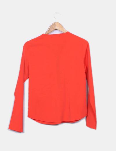 Blusa naranja detalle cremallera