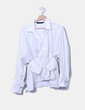 Camisa blanca fajín metálico Zara