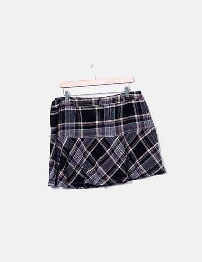 Mini falda cuadros