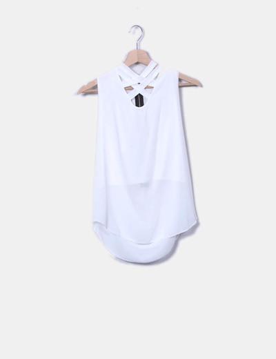 Camiseta cruda cremallera espalda New Collection
