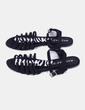 Sandalia negra print animal Marypaz