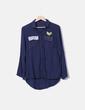 Camisa azul marino militar NoName