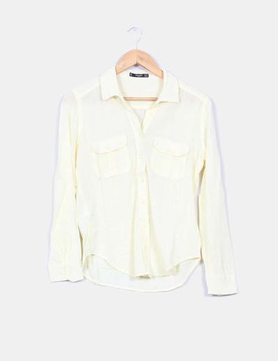 Camisa amarilla Mango