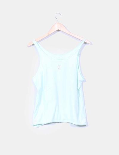Camiseta circulo azul