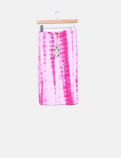 Boohoo Falda midi tie dye rosa (descuento 85%) - Micolet 2a7a2ac82c67