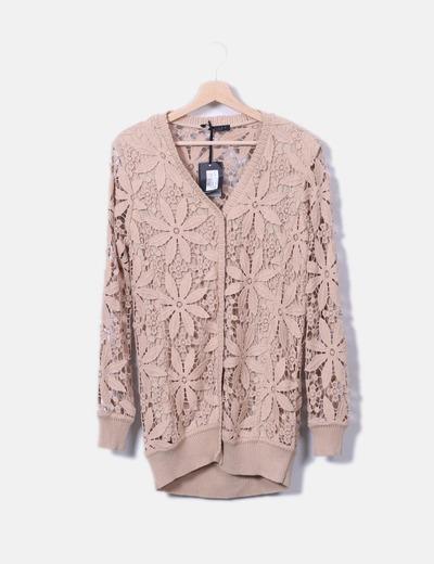 Twin-Set Conjunto jersey y chaqueta chantilly nude (descuento 80 ... 723126cb9cc1