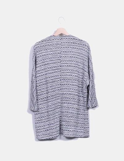 Cardigan tricot estampado