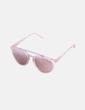 Gafas de sol rosas y doradas NoName