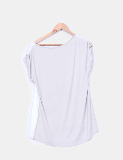 Camiseta oversize fluida combinada print perro