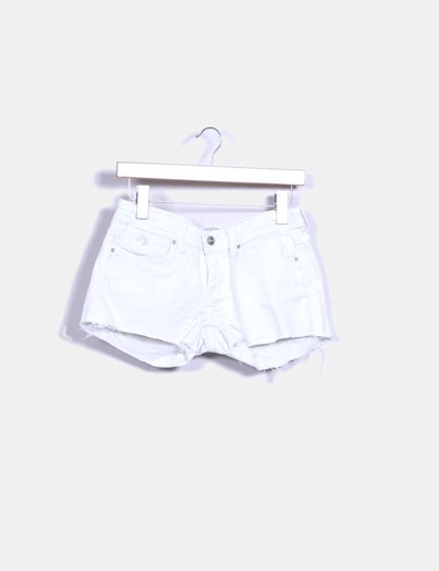 Shorts denim blanco