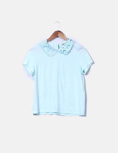 Die-cut mint green blouse Vero Moda