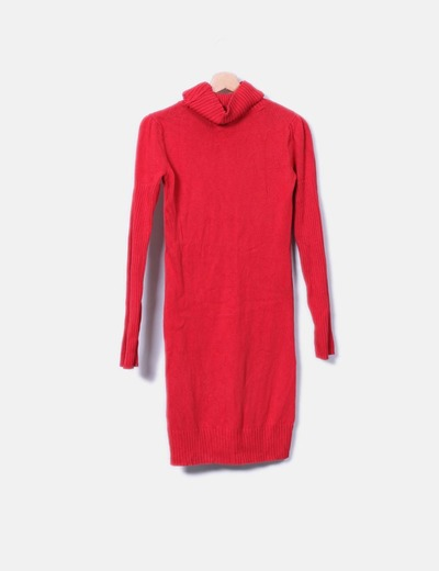 Vestido rojo de punto