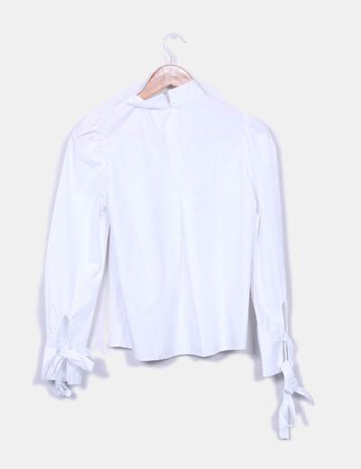 Margot Blouse blanche à manches bouffantes (réduction 74%) - Micolet f7fa8241e1fb