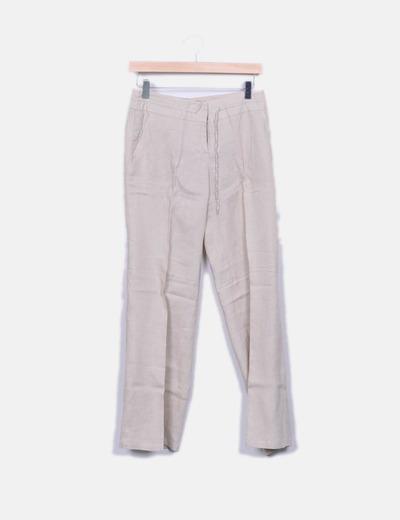Pantalon beige droit Mango