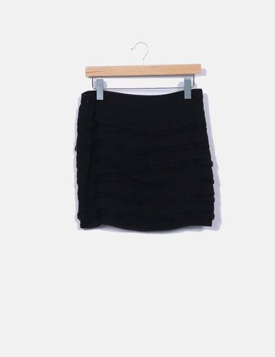 Jupe noire à volants Diane Von Fürstenberg